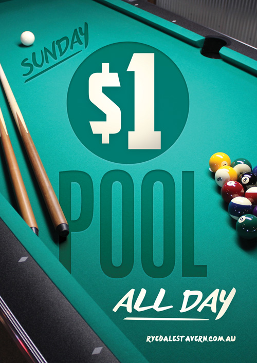 $1 Pool Table All Day Sundays